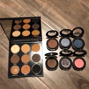 Morphe eyeshadow palette and Mac eyeshadows
